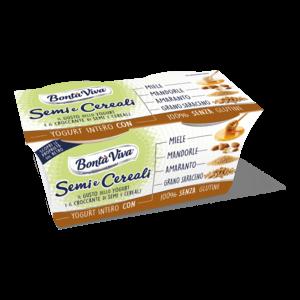 Yogurt Semi e Cereali Miele Bontà Viva 2x125g.png