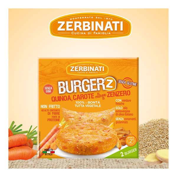 Burger\'Z with Quinoa, Carrot and Ginger