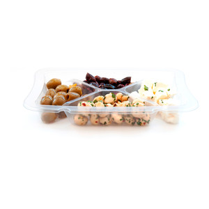 Marinated feta, Pitted olives & baby mushrooms cod. MOFEGRE320